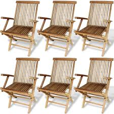 Outdoor Furniture Set Teak Color 7 Pcs Garden Furniture Set Dining Table Teak Lovdock Com