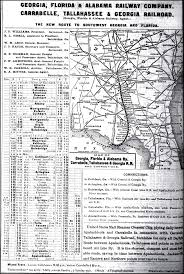 Alabama Florida Map by Florida U0026 Alabama Railway 1904 Map And Timetable
