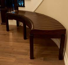 Home Decorators Bench handmade curved hallway bench by gerspach handcrafted woodworks