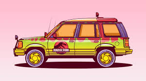 jurassic park tour car vector cars by musketon u2013 fubiz media