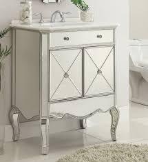 Bathroom Vanities 30 by Adelina 30 Inch Mirrored Silver Bathroom Vanity Marble Top