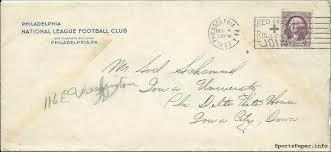 fantastic 1933 philadelphia eagles nfl recruiting letter