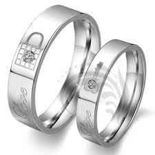 his and hers white gold wedding rings alianca de comprimisso prata pedra brilhante alianças de