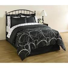 White Gray Comforter Geometric Bed In A Bag Ebay