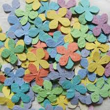 flower seed paper 200 plantable seed paper flowers hydrangea confetti wedding