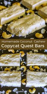 diy protein bars diy homemade quest bar recipe coconut cashew low carb yum