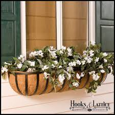 extra large window planters scroll wall baskets hooks and lattice