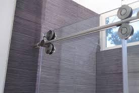curved shower door rollers and bracket door stair design