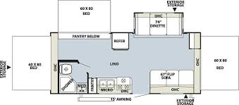 Rockwood Trailers Floor Plans 2009 Forest River Rockwood Roo 233s Travel Trailer Kirkville Ny