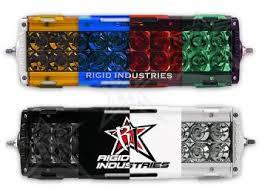multi color led light bar led light covers rigid industries