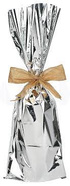 mylar gift wrap metallic mylar wine gift bags for 750ml to 1l bottles