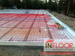 hydronic radiant heating concrete application