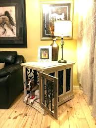 dog kennel side table end table dog kennel end table dog crate black pet kennel cage wood