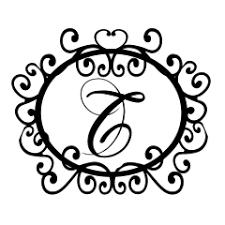 monogram letter t the letter d