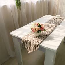 table runner for coffee table table runners linen lattice pattern modern tablecloths runners