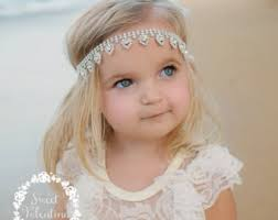 flower girl headband etsy