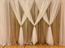 wedding backdrop burlap beautiful front room curtains 3 home decor front