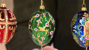 joan rivers 2015 set of 4 russian inspired egg ornaments on qvc