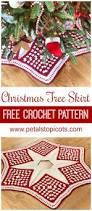 christmas tree skirt free crochet pattern free crochet