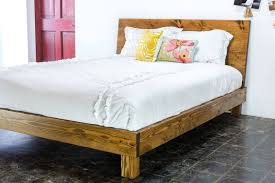 mid century bed solid modern style king bed frames in