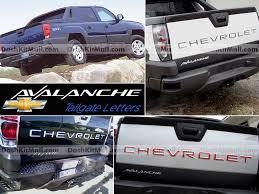 chevrolet tailgate chrome letter inserts chevrolet letters
