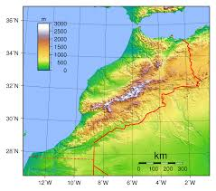 Africa Map Physical by Large Physical Map Of Morocco Morocco Africa Mapsland Maps