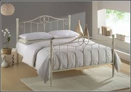Iron Rod Bed Frame White Iron Beds For Leirvik Bed Frame Ikea Plans 7