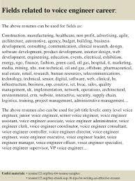 Engineering Resume Example by Top 8 Voice Engineer Resume Samples