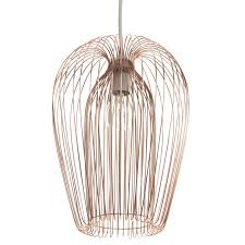 wire cage l shade first choice lighting 22cm copper wire l shade reviews