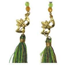 mardi gras earrings tassel earrings with mardi gras mask charms