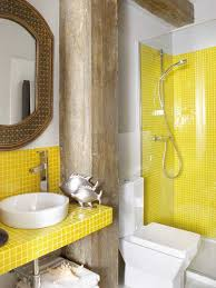 yellow tile bathroom ideas and spaces gray space budget decorating mirror small bathroom
