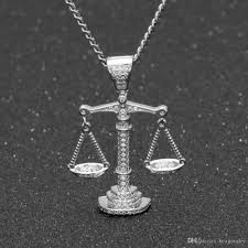 pendant necklace white gold images Wholesale iced out zircon balance libra scale pendant bling charm jpg