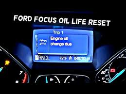 2012 ford focus oil light reset how to reset engine oil change due on ford focus mk3 oil light reset