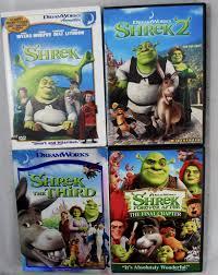 shrek 4 dvd movie lot shrek 1 2 3 final chapter u0027s worth