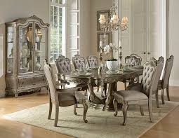 silver dining room homelegance 1867 102 florentina formal dining room set