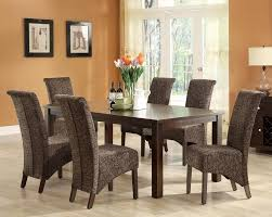 details about piece cappuccino dining room table furniture set new