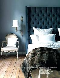 Velvet Tufted Headboard Velvet Tufted Headboard Grey Crushed Bed With Regard To Blue