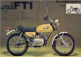1972 yamaha ft1 50 mini enduro ad vintage dirt pinterest