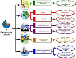 5 Themes Of Geography Essay Exles | this flowchart helps me remember the 5 themes because it shows