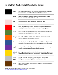 color archetypes symbolism pinterest