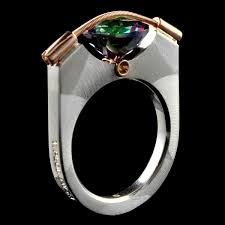 tension ring 10mm tension ring mystic blue topaz t plodowski silver gold