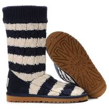 ugg boots sale blue ugg stripe cable knit 5822 blue white http