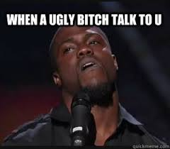 Ugly Bitch Meme - when a ugly bitch talk to u kevin hart funny quickmeme