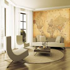 atlas feature wall living room new home bedroom pinterest giant wallpaper mural old vintage map wall decor paper poster old look world map