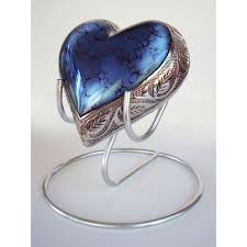 heart urn urns blue heart for ashes
