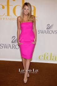 hot pink dress lively pink cocktail dress cfda fashion awards 2009