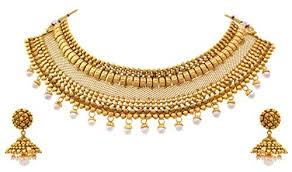 jfl traditional ethnic bridal one gram gold plated pearl
