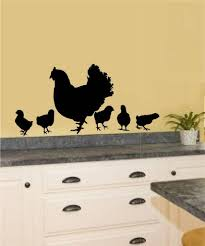 online get cheap chicken sticker decor aliexpress com alibaba group rooster chicken vinyl decal wall sticker primitive country kitchen decor art wall mural removable pvc home