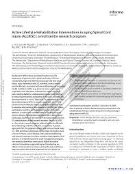 hã ngelen design active lifestyle rehabilitation interventions in aging spinal cord