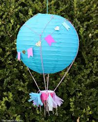 How To Make Paper Air Balloon Lantern - air balloon lanterns craftbnb